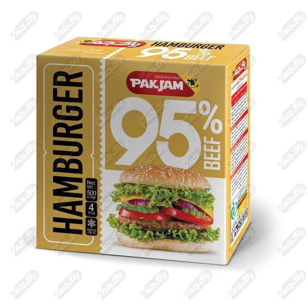 همبرگر گوشت 95 درصد جعبه